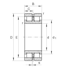 INA SL024872 cylindrical roller bearings