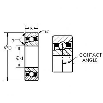 AST H7016AC angular contact ball bearings