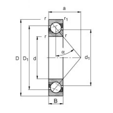 FAG 7220-B-JP angular contact ball bearings