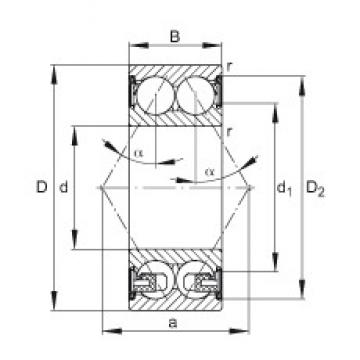 FAG 3302-BD-2Z-TVH angular contact ball bearings