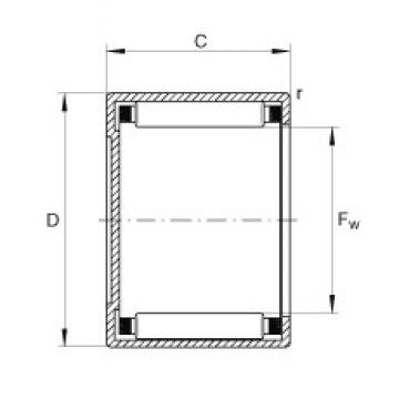 INA BCH1312 needle roller bearings