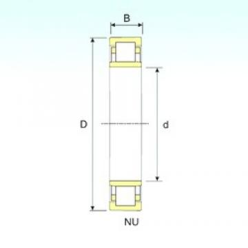 ISB NU 2222 cylindrical roller bearings