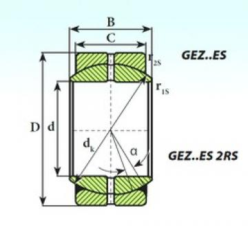 ISB GEZ 107 ES plain bearings