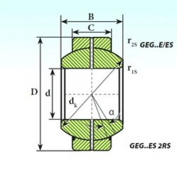 ISB GEG 80 ES 2RS plain bearings