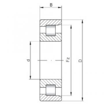 ISO NF3072 cylindrical roller bearings