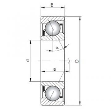 ISO 7226 B angular contact ball bearings
