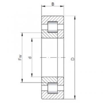 ISO NUP1034 cylindrical roller bearings