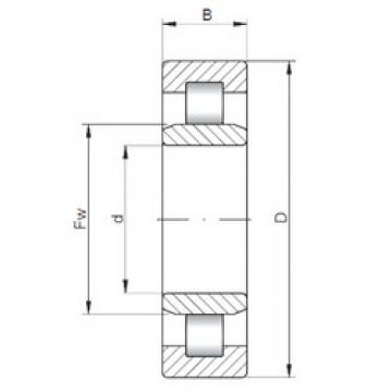 ISO NU5220 cylindrical roller bearings