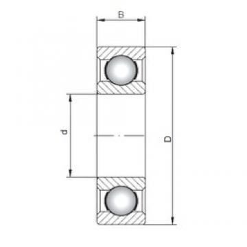 ISO 16010 deep groove ball bearings