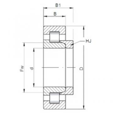 ISO NH1068 cylindrical roller bearings