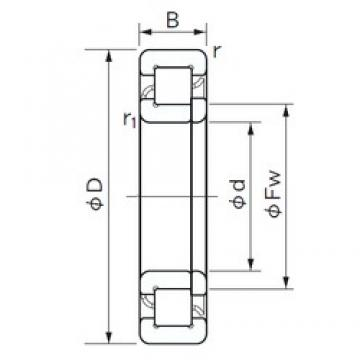 NACHI NUP 211 cylindrical roller bearings