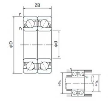 NACHI 7309BDF angular contact ball bearings