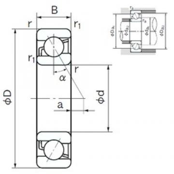 NACHI 7022 angular contact ball bearings