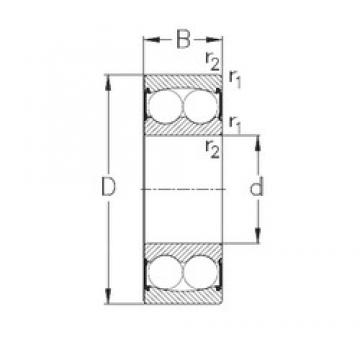 NKE 2203-2RS self aligning ball bearings