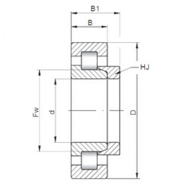 ISO NH1076 cylindrical roller bearings #3 image